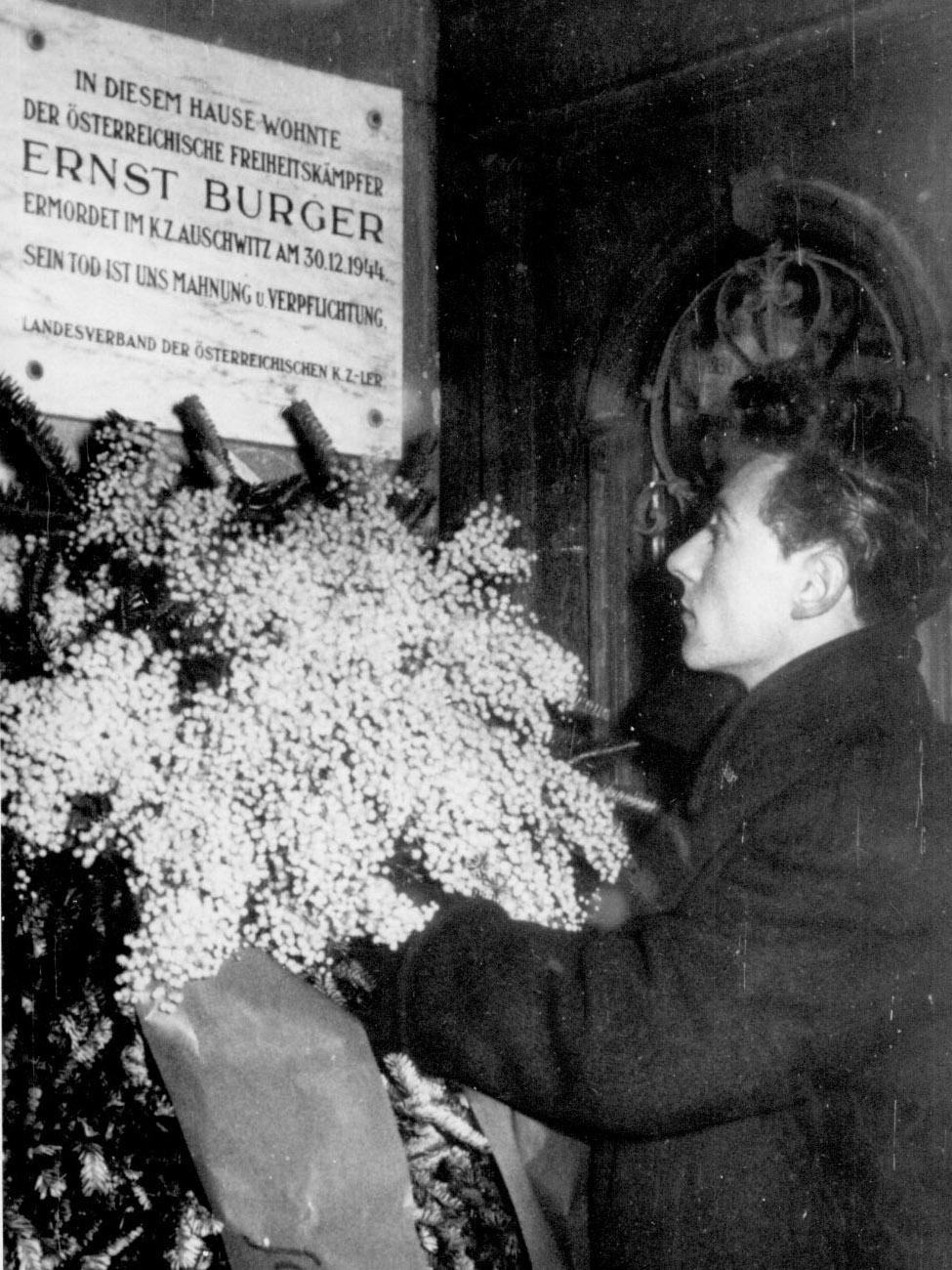 Gedenktafel Ernst Burger