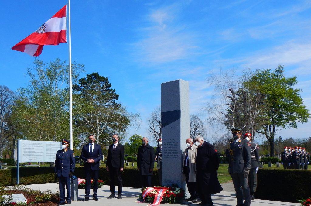 """Gedenken an den 27. April 1945 am Zentralfriedhof """"Gruppe 40"""" 2021"""
